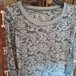 Maurice's Layering Long Sleeve Lace Size S
